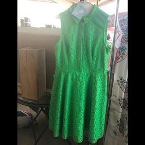 Green lace lined Vintage style dress